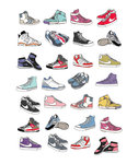 Trainers by Hanna Melin - print