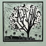Moon Tree,Sky Grey by Liz Toole - print