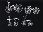 Black and White Bikes by Louise Howlett - print