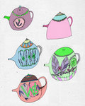 Tea Time by Louise Howlett - print