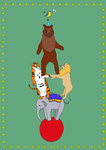 Circus Animals by Stacie Swift - print