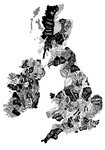 British Map (Black and White) by Ruggero Tommasini - print