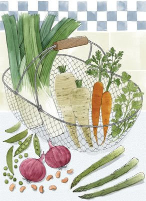Good Things by Jane Grigson, Illustration 6 by Alice Tait - print