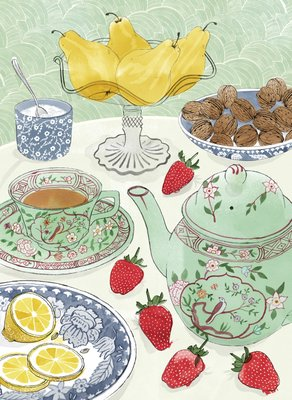 Good Things by Jane Grigson, Illustration 7 by Alice Tait - print