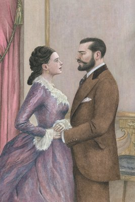 Anna Karenina by Leo Tolstoy, Illustration 14 by Angela Barrett - print