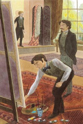 The Picture of Dorian Gray by Oscar Wilde, Frontis illustration by Emma Chichester Clark - print