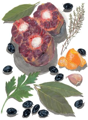 French Provincial Cooking by Elizabeth David, Frontis illustration by Sophie MacCarthy - print