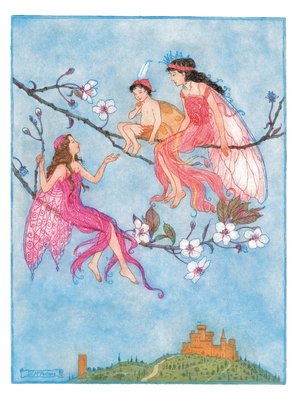 The Pink Fairy Book, Andrew Lang (ed.), Frontis illustration by Debra McFarlane - print