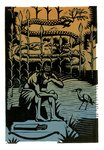 The Epic of Gilgamesh, Illustration 8 by Francis Mosley - print