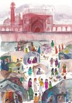 Midnight's Children by Salman Rushdie, Illustration 9 by Anna Bhushan - print