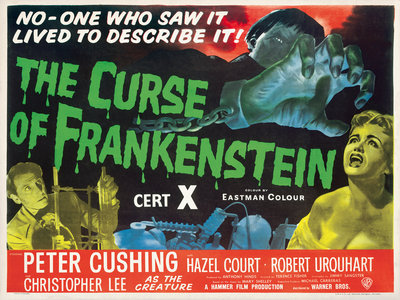 THE CURSE OF FRANKENSTEIN (aged) by Anonymous - print