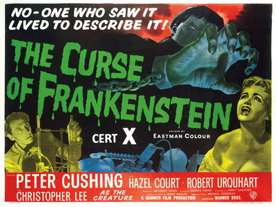 THE CURSE OF FRANKENSTEIN (restored) by Anonymous - print