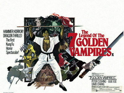 THE LEGEND OF THE SEVEN GOLDEN VAMPIRES (restored) by Arnaldo Putzu - print