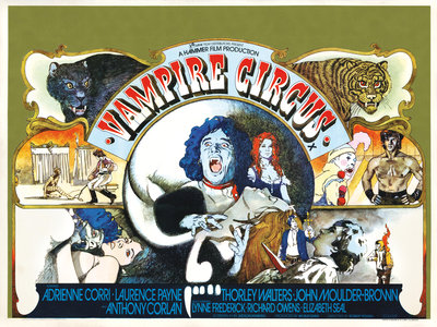 VAMPIRE CIRCUS (aged) by Vic Fair - print