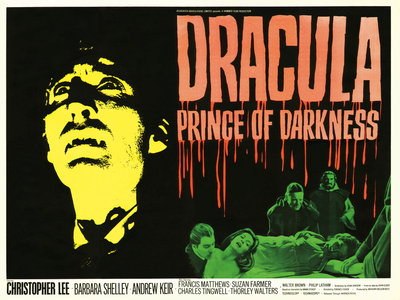 DRACULA PRINCE OF DARKNESS (restored) Poster Art Print by Tom Chantrell