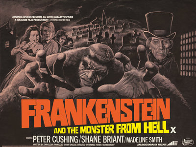 FRANKENSTEIN AND THE MONSTER FROM HELL (aged) by Bill Wiggins - print