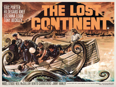 THE LOST CONTINENT (aged) by Tom Chantrell - print