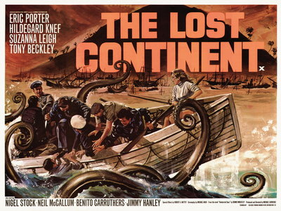 THE LOST CONTINENT (restored) Poster Art Print by Tom Chantrell