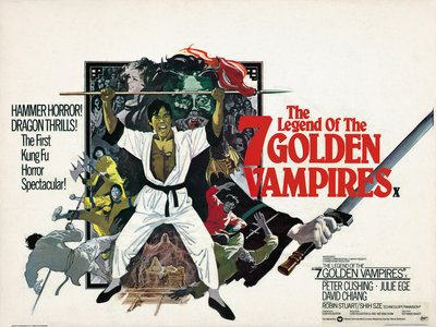 THE LEGEND OF THE SEVEN GOLDEN VAMPIRES (aged) by Arnaldo Putzu - print