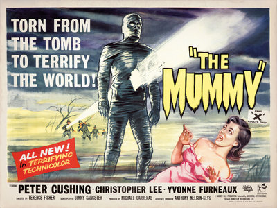 THE MUMMY (aged) Poster Art Print by Bill Wiggins