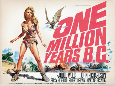 ONE MILLION YEARS B.C. (aged) by Tom Chantrell - print
