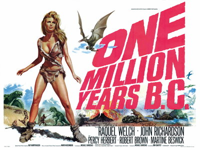 ONE MILLION YEARS B.C. (restored) Poster Art Print by Tom Chantrell