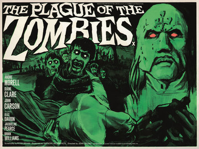 THE PLAGUE OF THE ZOMBIES (aged) by Tom Chantrell - print