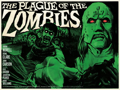 THE PLAGUE OF THE ZOMBIES (restored) by Tom Chantrell - print