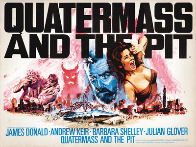 QUATERMASS AND THE PIT (aged) Poster Art Print by Tom Chantrell