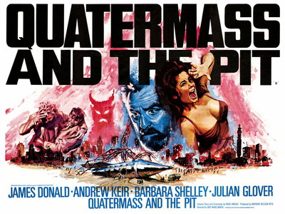 QUATERMASS AND THE PIT (restored) by Tom Chantrell - print