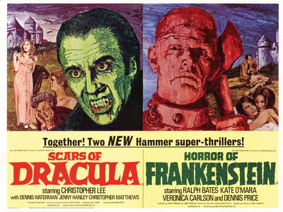 SCARS OF DRACULA/HORROR OF FRANKENSTEIN (restored) by Mike Vaughan - print