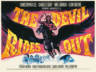THE DEVIL RIDES OUT (aged) by Tom Chantrell - print