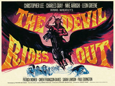 THE DEVIL RIDES OUT (restored) by Tom Chantrell - print