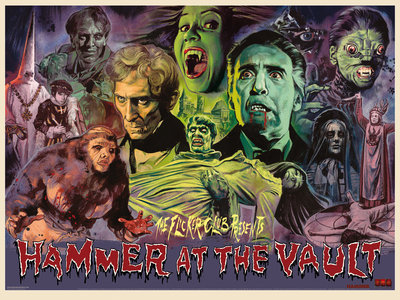 The Flicker Club presents Hammer at The Vault by Graham Humphreys - print