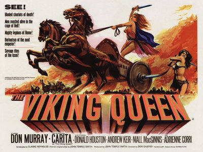 THE VIKING QUEEN (restored) by Tom Chantrell - print