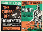FRANKENSTEIN/THE MUMMY (aged) Poster Art Print by Hoo-Ha