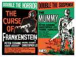 FRANKENSTEIN/THE MUMMY (restored) Poster Art Print by Tom Chantrell