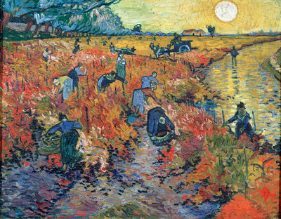 The Red Vineyards at Arles Poster Art Print by Vincent Van Gogh