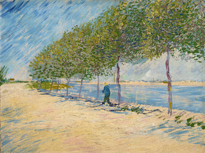 Along the Seine Poster Art Print by Vincent Van Gogh