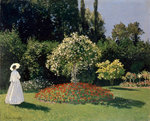 A Lady in the Garden, Sainte-Adresse Poster Art Print by Marjorie Weiss