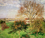 Autumn morning at Èragny Poster Art Print by Camille Pissarro