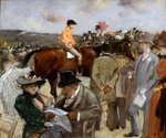 Horseracing Poster Art Print by Pierre-Auguste Renoir
