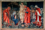 The Adoration of the Magi', tapestry Poster Art Print by Lucas, the Elder Cranach