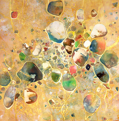 Pebbles No3 by Ann Bridges - print