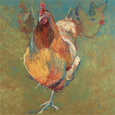 Chicken Run by Amanda Page - print