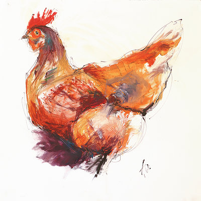 Chicken Sketch by Amanda Page - print