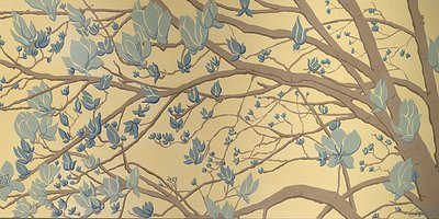 Brown &amp;amp; Blue Magnolias by Catherine Bowers - print
