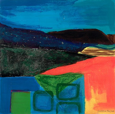 Landscape with Still Life I by Christine Physick - print