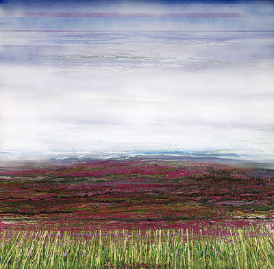Heather to the Beacon Redesdale by Mike Bell - print