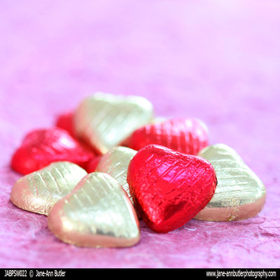 Fine Art Print of Chocolate Hearts by Jane Ann Butler